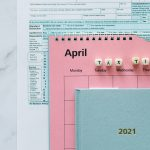 Tax documents for filing a business tax return